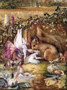 """John Anster Fitzgerald, """"The Wounded Squirrel"""" by sofi01, via Flickr"""