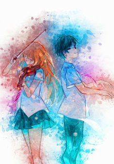 ♥ Fanarts Anime, Anime Characters, Manga Anime, Anime Art, Angel Beats, Hikaru Nara, Miyazono Kaori, Vocaloid, Your Lie In April