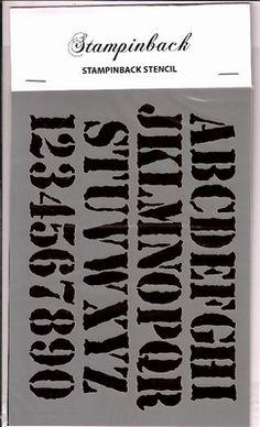 Stencil SB  Distressed Alphabet Stampinback.nl