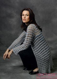 Crochet Lace Cardigan pattern by Doris Chan - Πλέξιμο - Cardigans Black Crochet Dress, Crochet Coat, Crochet Cardigan Pattern, Crochet Jacket, Lace Cardigan, Crochet Shawl, Crochet Clothes, Ravelry Crochet, Crochet Sweaters
