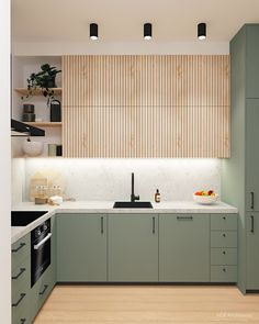 Kitchen Room Design, Modern Kitchen Design, Home Decor Kitchen, Interior Design Kitchen, Kitchen Furniture, Home Kitchens, Interior Modern, Ikea Kitchens, Light Wood Kitchens