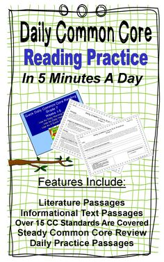 Middle School Daily Common Core Reading Practice~  Complete it in FIVE minutes a day as students first enter the classroom.  Literature and Informational Text passages are included.  The Common Core Standard is listed next to each question for easy progress monitoring.  Realistic fiction, historical fiction, and informational text passages are included. $