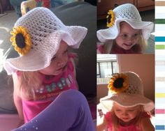 Sunflower brim hat