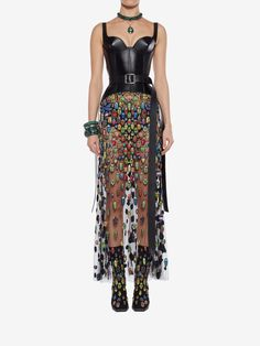 c2e216c9cb855 Shop Women s Bug Embroidered Evening Skirt from the official online store  of iconic fashion designer Alexander