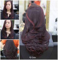 58 super ideas for hair brunette long layers balayage Hair Color Highlights, Hair Color Dark, Hair Color Balayage, Cool Hair Color, Brunette Long Layers, Brunette Color, Medium Hair Cuts, Medium Hair Styles, Short Hair Styles