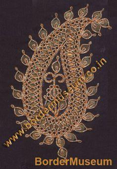 Twisted Zari Marodi work with Antique Metal Sequins.