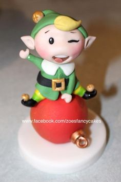 Elf - Cake by Zoe's Fancy Cakes Christmas Themed Cake, Christmas Cupcakes, Christmas Desserts, Christmas Treats, Christmas Craft Projects, Polymer Clay Christmas, Cake Decorating Tips, Cookie Decorating, Zoes Fancy Cakes