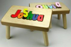 Personalised wooden name puzzles by tinyme this company has personalized name puzzle stool by timsuniqueproducts on etsy babylist baby registry dream registry negle Image collections