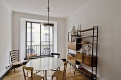 basil green pencil: Apartment: A Domestic Showroom In Milan Chiavari Chairs, Cabinet Makers, Creative Studio, Showroom, Shelves, Ceiling Lights, House, Furniture, Charles Eames