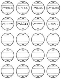 graphic relating to Printable Spice Jar Labels referred to as 19 Simplest Absolutely free Printable Spice Labels! illustrations or photos Printable