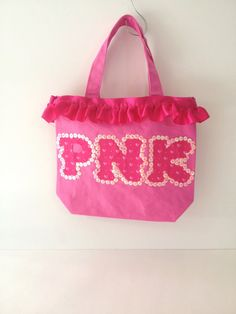 PNK Python Nu Kappa Tote Bag with Sequins - Monster's University on Etsy, $24.00