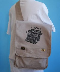 Writer messenger bag. I want this immediately! Perfect for the writer on the go.