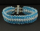 Swarovski Light Blue Pearl and Crystal AB Bracelet by KRDesigns11