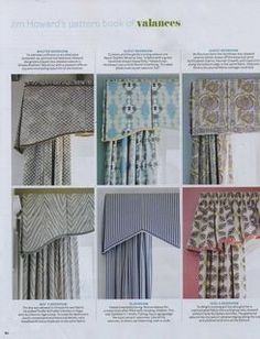 types of valances
