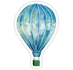 This original watercolor hot air balloon will carry you off to magical places! Wrap it around yourself as a scarf or leggings, or dream of far-off places as you stare at your hot air balloon print, phone case or computer skin.  You can even be carried to wondrous realms while you sleep with a hot air balloon duvet cover!  And be sure to check out the red hot air balloon, too! • Also buy this artwork on stickers, apparel, phone cases, and more.