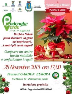 A Padenghe sul Garda si svolge Aspettando il Natale con Padenghe Verde sabato 28 novembre 2015 @gardaconcierge