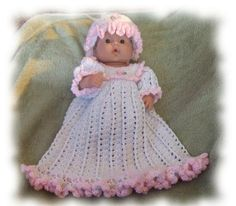 Petal Soft Gown For 14-15 Inch Baby Doll_e_1i11 - via @Craftsy