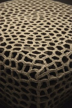 INSPIRATION:This structure is made of over 1600 pale gray crocheted linen shapes. (Monomoka)