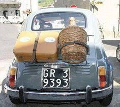 Fiat 500 taking the wine home