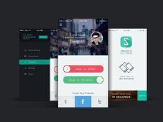 File Share app UI design by mushfiq
