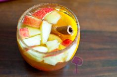 Autumn Apple Cider Sangria. You'll have fall fever after just one sip!!!