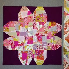 SEW KATIE DID/The heart can make flower shapes too:) #splitpersonalityblock #sewkatiedid