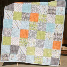 Sale Backyard Baby Boy Quilt Patchwork by SunnysideDesigns2, $148.00