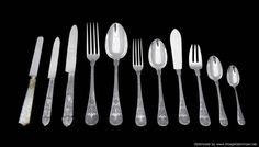 At Estate Sale Sterling Silver, we pride ourselves on being able to offer you the highest quality French antique sterling silver flatware sets and hollowware products at the best prices available; both online and here in Paris. Sterling Silver Flatware, Flatware Set, Stunningly Beautiful, French Antiques, Monograms, Mansion, Tableware, Empire, Paris