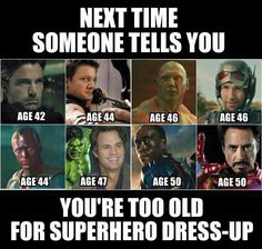 Cosplay is ageless.