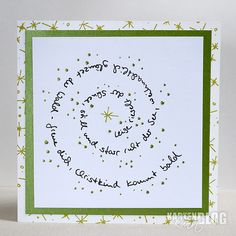 Let it snowStamps: Card Art Clear Stamp Set - Spiral Text Snow, Card Art Clear Stamp Set - Critters in Winter (Stars Background) Other: Nuvo Crystal Drops - Bottle Green Card Art Card Design Stamps Christmas Mail, Christmas Love, Christmas Crafts, Xmas Cards, Diy Cards, Advent Calendar Christian, Splatter Art, Clear Stamps, Halloween Crafts