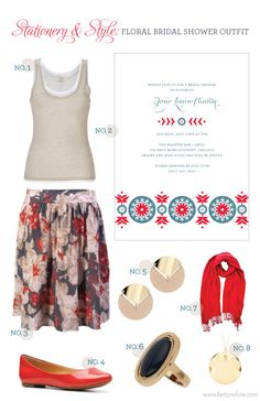 Stationery & Style: Floral Bridal Shower Outfit