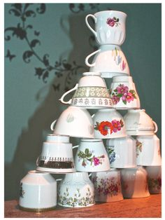 Stacking/collection Merry Christmas, Xmas, Vintage Cups, Santa, Gifts, Diy, Inspiration, Winter, Home Decor