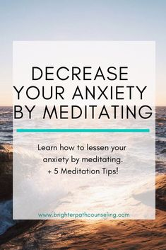 Anxiety can feel overwhelming and frustrating. Learn why meditation helps anxiety, 5 tips for how to meditate for anxiety, plus get a FREE printable meditation schedule specifically for anxiety. Anxiety Tips, Anxiety Help, Social Anxiety, Meditation Benefits, Mindfulness Meditation, Guided Meditation, Meditation For Anxiety, Meditation Garden, Meditation Space