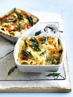 chicken, sage and smoked mozzarella cannelloni from donna hay magazine