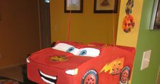 This is the second in a series of posts about the crafts projects I made in preparation for Logan's birthday party, which had a Cars t. Lightning Mcqueen, 3rd Birthday Parties, Halloween Ideas, Two By Two, Craft Projects, Posts, Cars, Diy, Messages