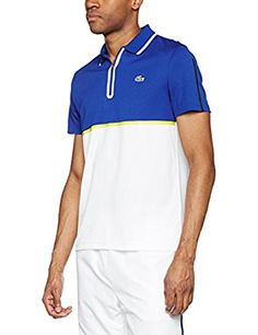 4a6b0bca Lacoste Men's Dh2067 Polo Shirt, Multicolore (Blanc/Marine-Etna-Oceanie),  Large (Manufacturer size: 5): Amazon.co.uk: Clothing