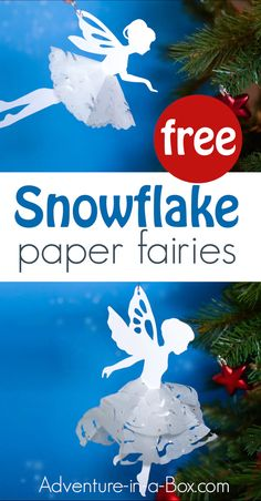 Snowflake Paper Fairies If you like cutting snowflakes out of paper, make a paper snowflake fairy with our free printable template! A great winter craft for kids that can be used as a Christmas tree ornament. Winter Activities For Kids, Winter Crafts For Kids, Paper Crafts For Kids, Kid Crafts, Winter Fun, Felt Crafts, Christmas Decorations For Kids, Christmas Paper Crafts, Diy Christmas Ornaments