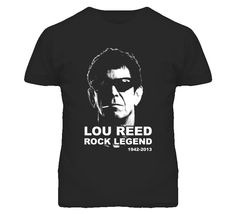Lou Reed Rock Legend Memorial T Shirt Black And White Tees, Rock Legends, Sport T Shirt, Fathers Day Gifts, Memories, Mens Tops, Shirts, Stuff To Buy, Style