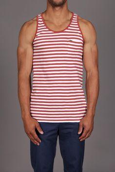 Red / white stripe tank