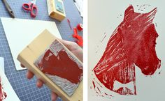 Quick and easy rubber stamp tutorial! #DIY