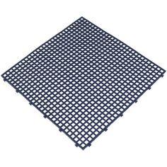 Interiérová plastová rohož Flextile děrovaná modrá Art Plast