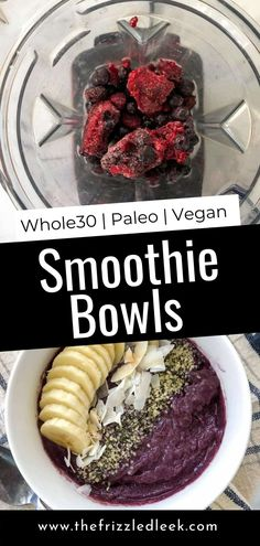 Rise and shine and enjoy the best smoothie bowl recipe! This is loaded with healthy whole foods. Avocados contribute a rich and creamy texture to this easy breakfast option. To make this smoothie Whole30 friendly, we use dates instead of common sweeteners. Toasted coconut, homemade granola, strawberries, and banana make delicious toppings. #breakfast #smoothie #smoothiebowl #snacks #dessert Best Healthy Smoothie Recipe, Healthy Smoothies For Kids, Healthy Breakfast Smoothies, Good Smoothies, Vegan Smoothies, Dairy Free Breakfasts, Gluten Free Recipes For Breakfast, Easy Whole 30 Recipes, Whole30 Recipes