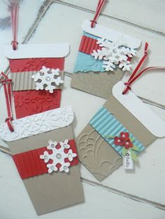 Stampsnsmiles: Vintage Coffee Cup gift card holder & gift tags, too!