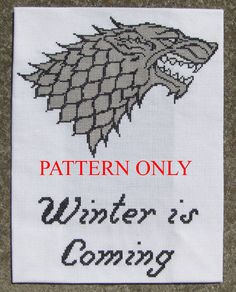 GoT Stark Crossstich for me