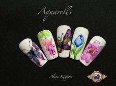 Aquarelle nail art