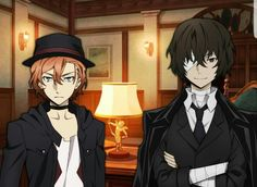 16 y/o Dazai and Chuuya in Bungo Mayoi are hella cute. And they're an old married couple already.