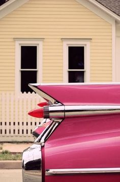 Pink car and house