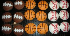 This past weekend, I made cupcakes for Cole and Cooper's birthday party. They are both really into sports and love baseball and basketball. ...
