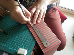 STEP 4: Carefully cut out the rectangle with the pen knife.