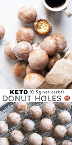Baked Gluten Free & Keto Donut Holes (at net carbs a pop!) The post Baked Gluten Free & Keto Donut Holes (at net carbs a pop!) appeared first on Dessert Factory. Keto Cookies, Keto Donuts, Chip Cookies, Keto Desserts, Keto Snacks, Holiday Desserts, Dessert Recipes, Stevia Desserts, Diabetic Snacks
